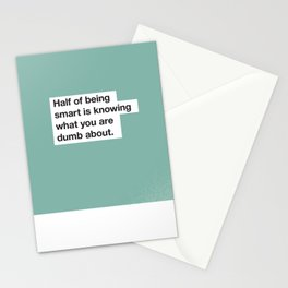 Fortune Findings - Half of Being Smart is Knowing What You are Dumb About Stationery Cards