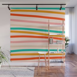 Warm abstract line pattern Wall Mural