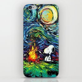 Snoopy Meets starry night iPhone Skin