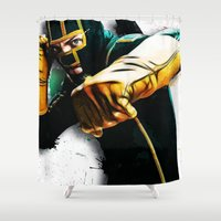 dave grohl Shower Curtains featuring Dave Lizewski by D77 The DigArtisT