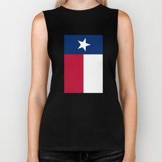 State flag of Texas - Vertical Authentic Version Biker Tank