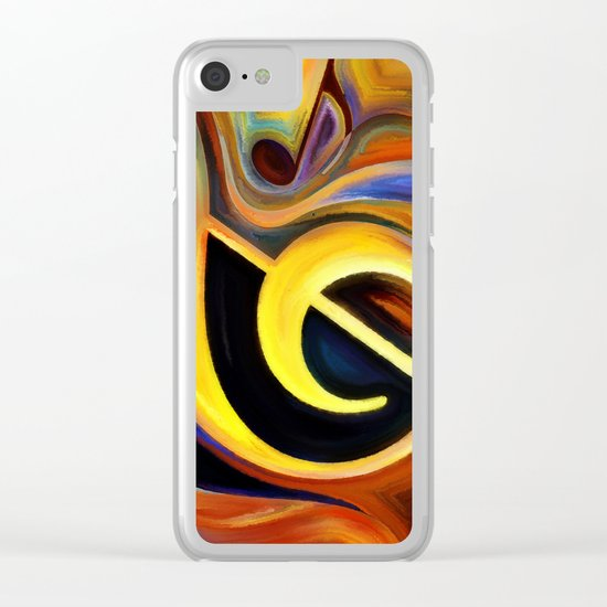 music, painting Clear iPhone Case