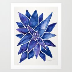 Aloe Vera – Navy Palette Art Print