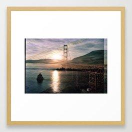 Golden Gate Sunrise Framed Art Print
