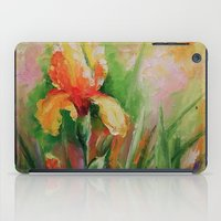 iris iPad Cases featuring Iris by OLHADARCHUK