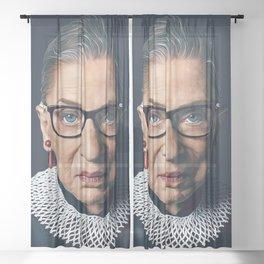 RUTH BADER GINSBURG Sheer Curtain