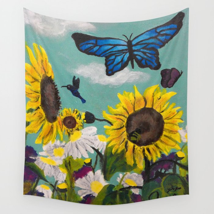 Summer Time Sunshine Wall Tapestry