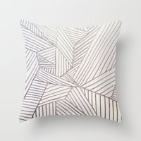 stripe Throw Pillows featuring stripe by HooVeHee