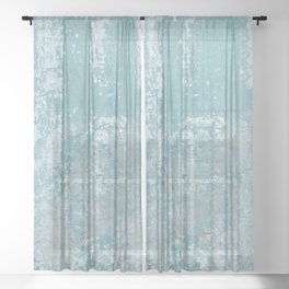 Galvanized Vintage Metal Blue Sheer Curtain