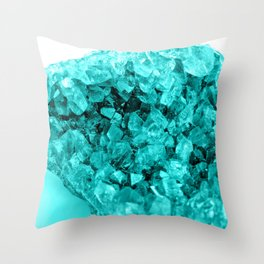 Sparkling Aqua Amethyst Throw Pillow