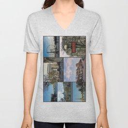 Paris Collage Unisex V-Neck