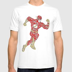 The Flash MEDIUM Mens Fitted Tee White
