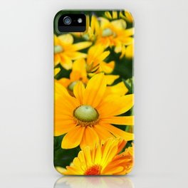 GOLDEN YELLOW  FLOWERS  GARDEN iPhone Case