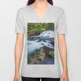 High motion waterfall Unisex V-Neck