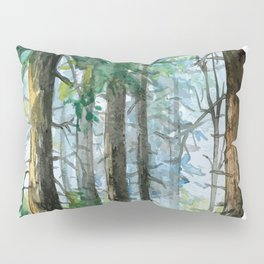 Watercolor Forest Pillow Sham