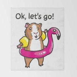 Guinea pig adflaig Throw Blanket