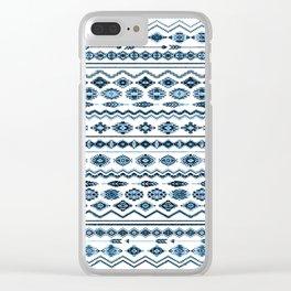 cockatoo (indigo) Clear iPhone Case