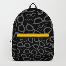 Black Smart Glasses Pattern Backpack
