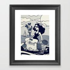 Beach Girl. Framed Art Print
