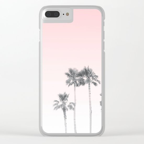 Tranquillity - pink sky Clear iPhone Case