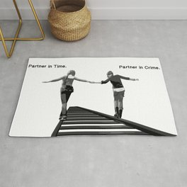 Partner in Time, Partner in Crime, Max Caulfield and Chloe Price Train Tracks Rug