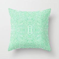 Radiate (Celadon) Throw Pillow