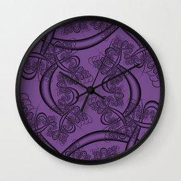 Royal Lilac Fractal Wall Clock