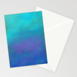 Dreamy Blues Abstract Design Stationery Cards