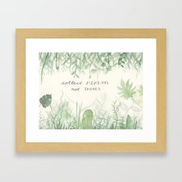 Collect Moments foliage watercolor Framed Art Print
