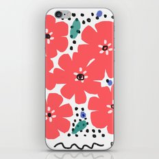 Big Red Flowers iPhone & iPod Skin