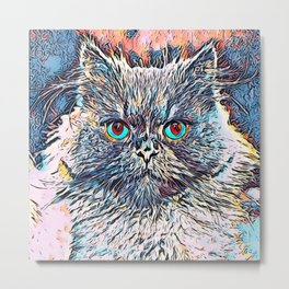 Impressive Animal - angry Cat Metal Print