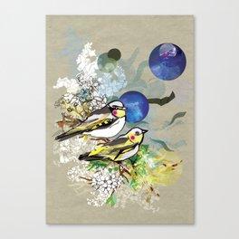 Yellow Birds Canvas Print