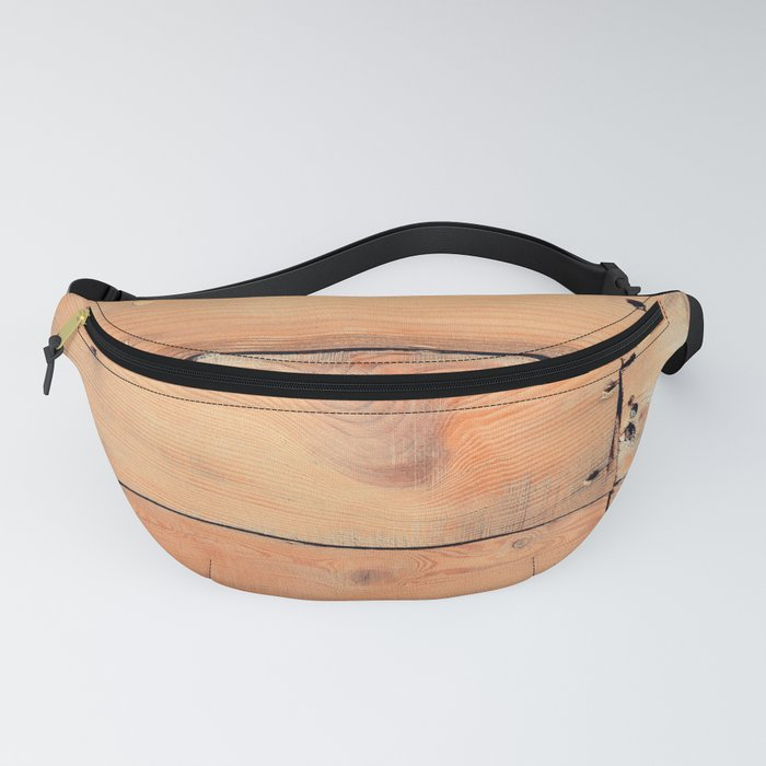 Wooden ship board with nails and screws Fanny Pack
