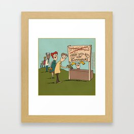 Smartphone Lemonade Stand Framed Art Print