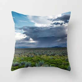 Desert Rain - Summer Thunderstorms Near Taos New Mexico Throw Pillow