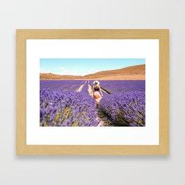Purple heaven Framed Art Print