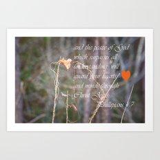 Guard Your Hearts Art Print