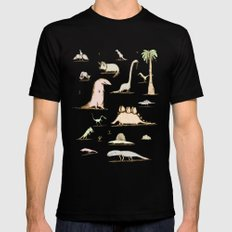 Dinosaurs 2X-LARGE Mens Fitted Tee Black