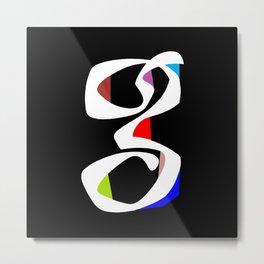 """G"" Metal Print"