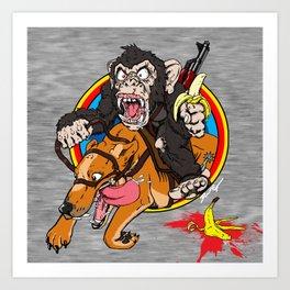 Furious George 2.0 Art Print