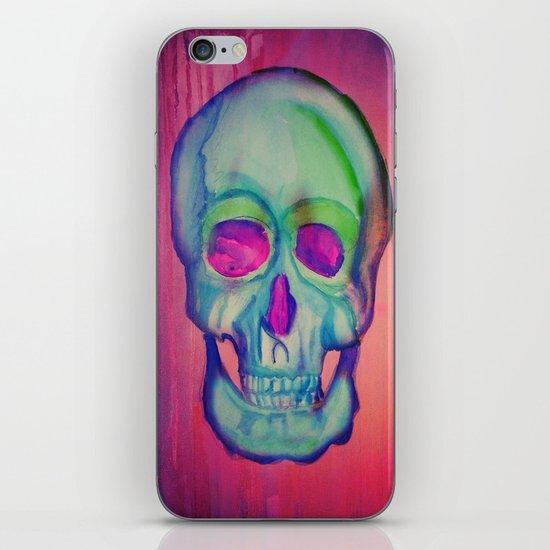 Watercolor skull/Blue iPhone & iPod Skin
