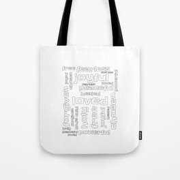 Christian Design - Word Cloud - Christians Blessings Tote Bag