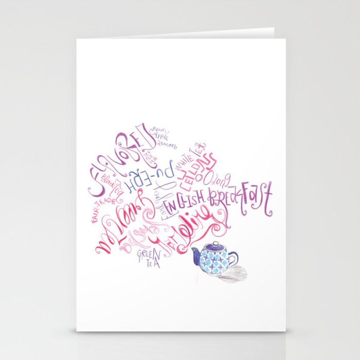 Too Many Teas, Too Little Time Stationery Cards