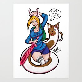 Fionna And Cake's Adventure! Art Print