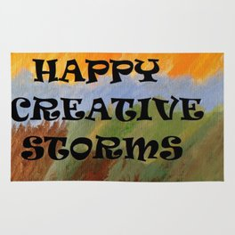 Happy Creative Storms Rug