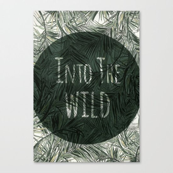 into the wild *palms Canvas Print