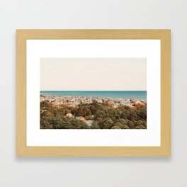 Where The Land Meets The Sea Framed Art Print