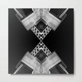 Geometric Concrete Structure Metal Print