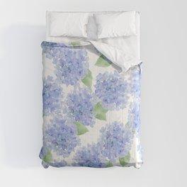 Elegant lavender lilac watercolor hydrangea floral Comforters