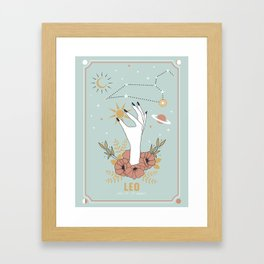Leo Zodiac Series Framed Art Print